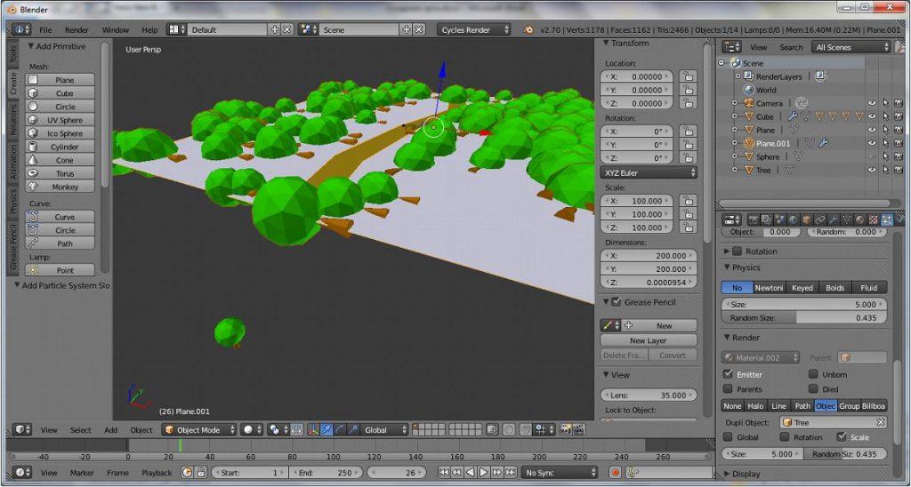 Как сделать лоу-поли арт в программе Blender?