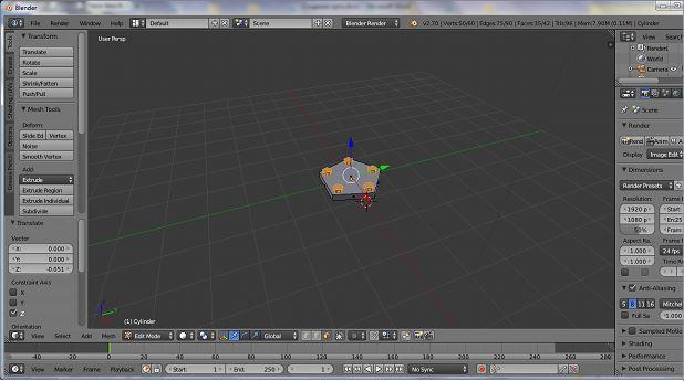 Как сделать лоу-поли лампу в программе Blender?